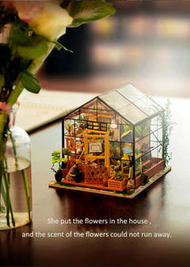 Dollhouse DIY Dollhouse with doll house furniture Toys for Children Kathy's Flower House