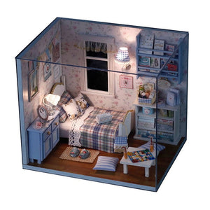 Doll House DIY Miniature Dollhouse Toy Furnitures Dolls Houses Toys Gift H012