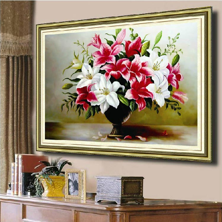 Needlework DMC DIY Cross stitch Embroidery kit set Lily Flower