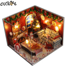 Load image into Gallery viewer, Doll House Miniature DIY Dollhouse Christmas house Toys For birthday Gift TW8