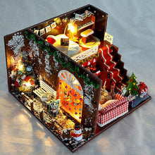 Load image into Gallery viewer, Miniature Christmas Carnival Night Dollhouse DIY DIY Gift Toys For Children