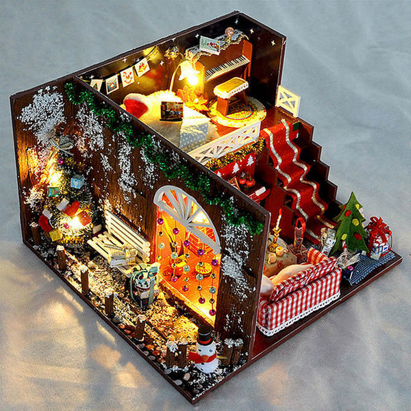 Miniature Christmas Carnival Night Dollhouse DIY DIY Gift Toys For Children