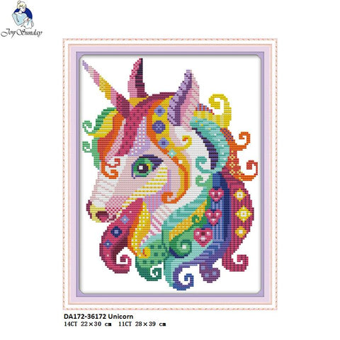 Unicorn Cross-stitch kits DIY Handmade DMC Needlework