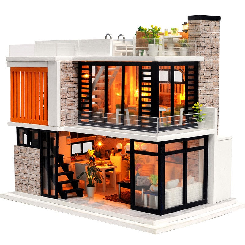 Wooden Miniature DIY DollHouse