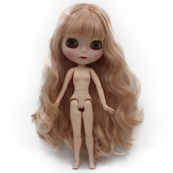 Blyth Doll BJD, Neo Nude Customized Frosted Face Dolls Changed Makeup Dress, 1/6 Ball Jointed SO32