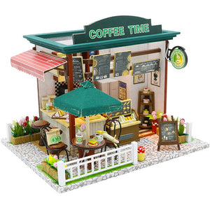 Dollhouse With Furnitures Wooden House Miniaturas Toys For Children C&M