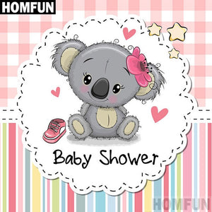 "Full Square/Round Drill 5D DIY Diamond Painting ""Cartoon koala"" Embroidery Cross Stitch Gift A03799"