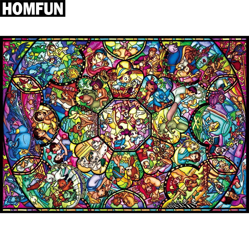 "Full Square/Round Drill 5D DIY Diamond Painting ""Cartoon character"" Embroidery Cross Stitch 5D Home Decor Gift A01157"