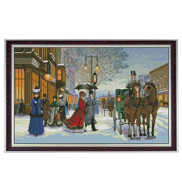 Twilight in foreign country DMC 11CT Cross Stitch kits14CT embroidery