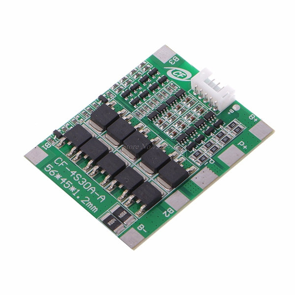 4S 30A 12.8V With Balance LiFePo4 LiFe 18650 Battery Cell BMS Protection PCB Board