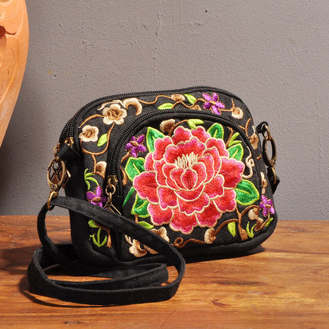 Floral Embroidery bag Chinese