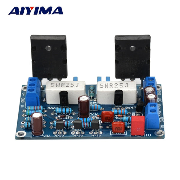 100W 2SC5200+2SA1943 Audio Amplifier Board HIFI Mono Channel Dual DC35V Speaker