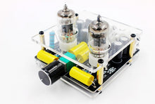 Load image into Gallery viewer, 6J1 electronic tube preamp tube amplifier preamp bile buffer MINI HIFI pre amplifier With Case