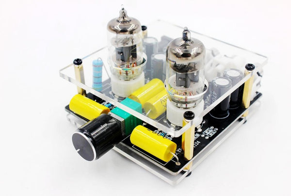 6J1 electronic tube preamp tube amplifier preamp bile buffer MINI HIFI pre amplifier With Case