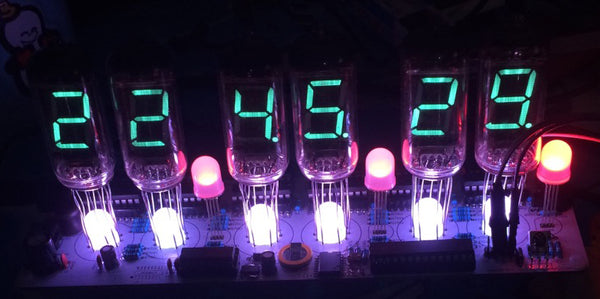 DIY fluorescent tube clock IV-11 kit VFD tube kit glow tube fluorescent tube