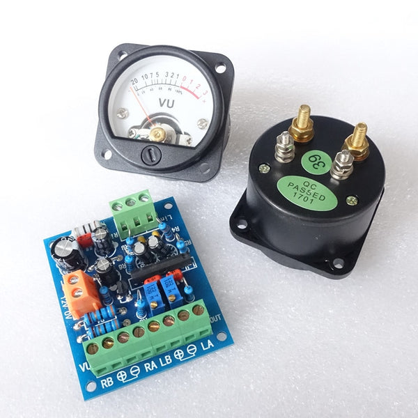 VU Meter Warm Back Light Audio Level indicator with driver board For Speakers Amplifier