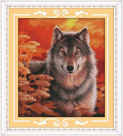 Needlework diy dmc Chinese cross stitch wolfs Wolf 14CT 11CT DIY Needlework Counted Cross-stitch Sets For Embroidery Cross Craft