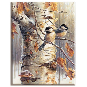Needlework Sets tree and bird Animals and plants Dmc Cross stitch