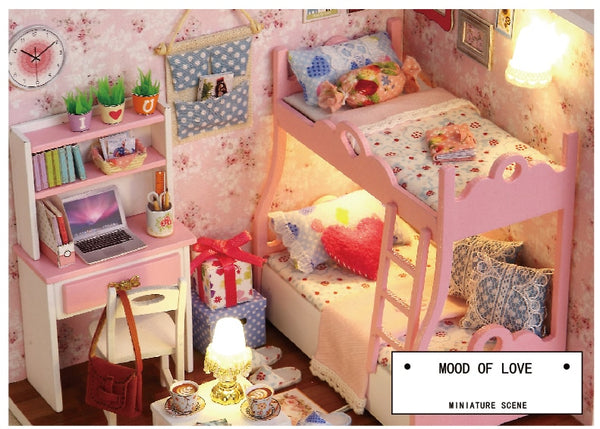 Doll House Furniture Miniature Miniature Room Box Theatre Toys for Children DIY Dollhouse H012