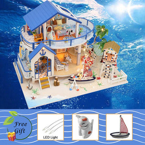 Doll House Furniture Miniature Dollhouse DIY Room Box Theatre Toys for Children stickers L