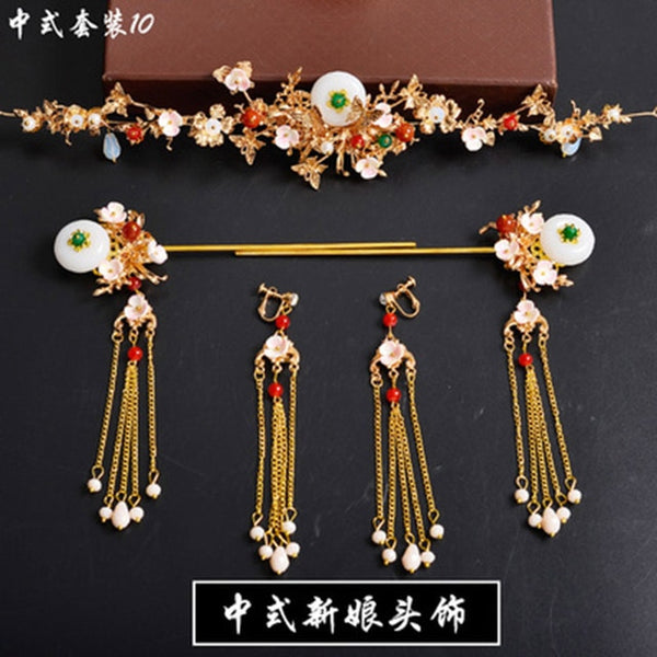 Chinese Wedding Hair Accessories Vinatge Traditional Chinese Headdress Hairpin