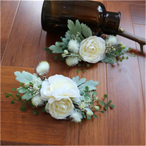 2pcs sets forest flowers wedding accessories bride handmade mq020
