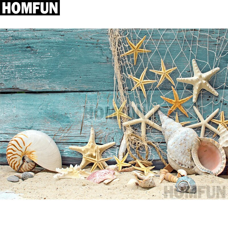 "Full Square/Round Drill 5D DIY Diamond Painting ""Beach Starfish"" Embroidery Cross Stitch 5D A02030"