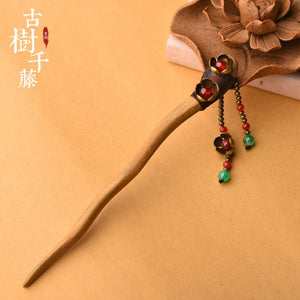 Vintage Hair Stick For Women Lover's Wood Classic Flower Hair Accessories