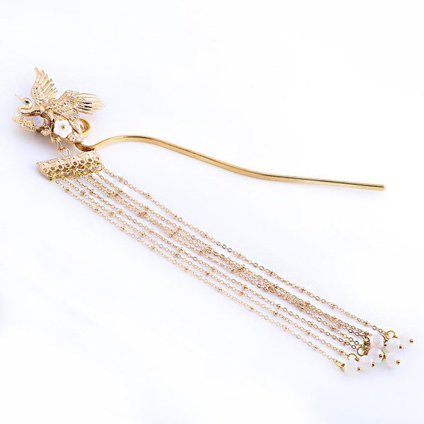 Crane Pin Hairpin Fashion Vintage ancient Style Disk Hair Hairwear