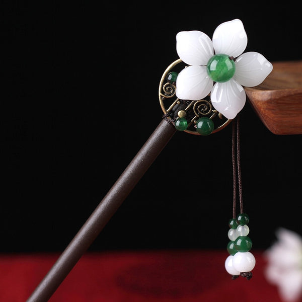 Chinese Style Simple Vintage Hair Sticks Tiara Wood Hairwear  Hairpins Accessories