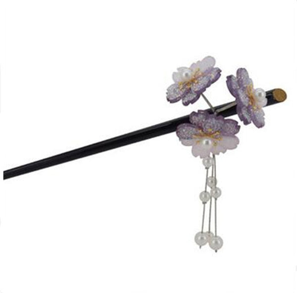 Japanese Cherry Blossoms Hair Sticks 2019 Vintage Hairpin New Wedding Bridal Hair