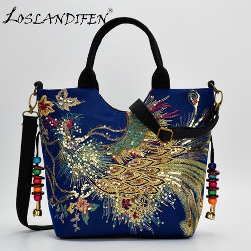 Chinese Style Canvas Embroidered