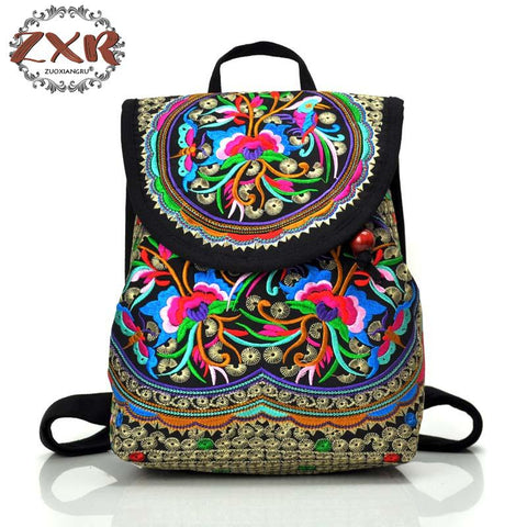 Chinese Flower Embroidered Bag