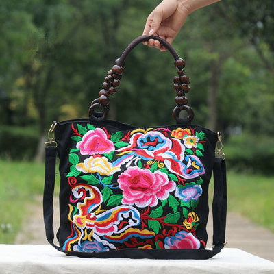 National Floral embroidery bags