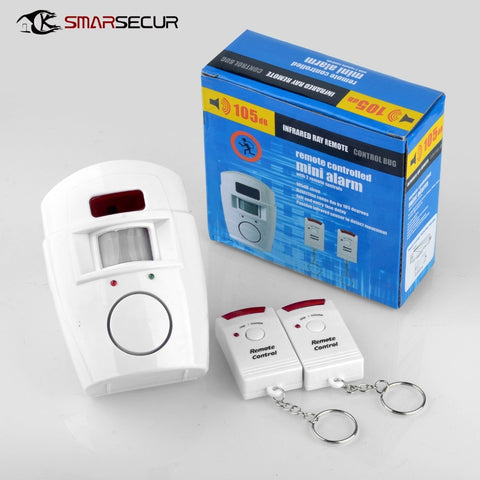 2 Remote Controller Wireless Home Security PIR Alert Infrared Sensor Alarm system Anti-theft
