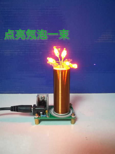 Mini Tesla Coil Kit Magic Props DIY Spare Parts, Space Lighting Technology, Electronic Production
