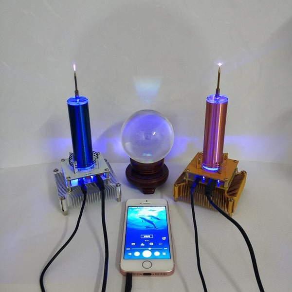 Tesla Coil Put Music Windmill Wreath Spaced Lights Wireless Transmission Radio Station