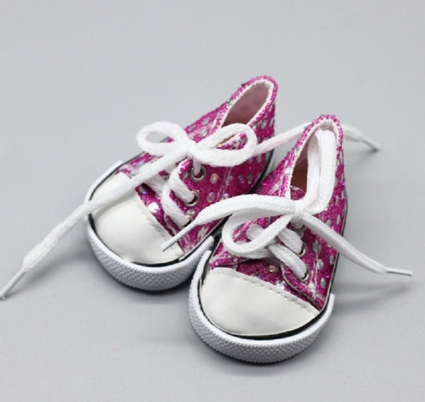 Pink Cute Doll Shoes For 18 Inch Baby Doll Handmade Sneakers Girl Clothes Accessories 43cm baby