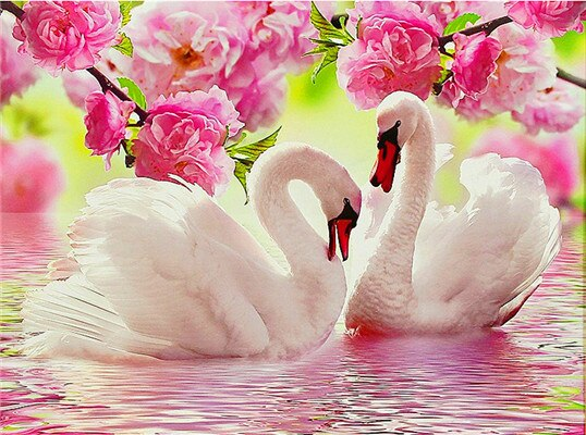 5D Diamond Embroidery Sale Swans Animal Full Square Diamond Painting Cross Stitch