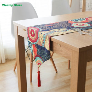 Home Double-deck cotton table runner Southeast Asian nation Vintage Style Table