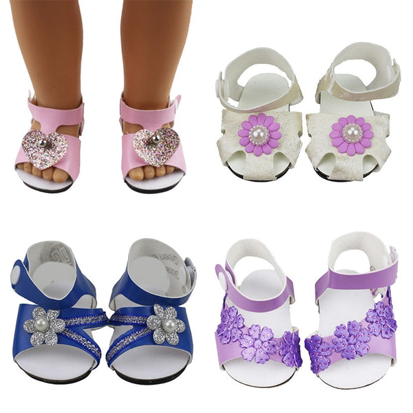 18-inch Doll Shoes- Accessories fit 18''/43-46cm life/doll-cute Toys Sandals for Girls best Gifts