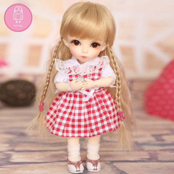 L28 long hairstyle Soft hair Wig For BJD Doll size 5-6 inch  high-temperature Curly wig