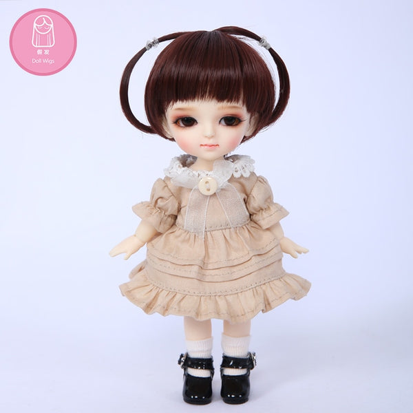 Wig For BJD Doll size 5-6 inch high-temperature L28 long Beautiful girl Naturalwig Soft hair