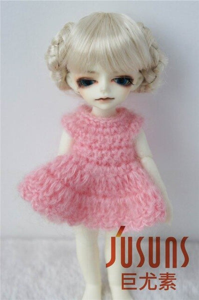 JD156 1/12 1/8 BJD Doll wigs  Ballet cute Synthetic mohair doll wigs size 3-4 4-5 5-6 bjd wig