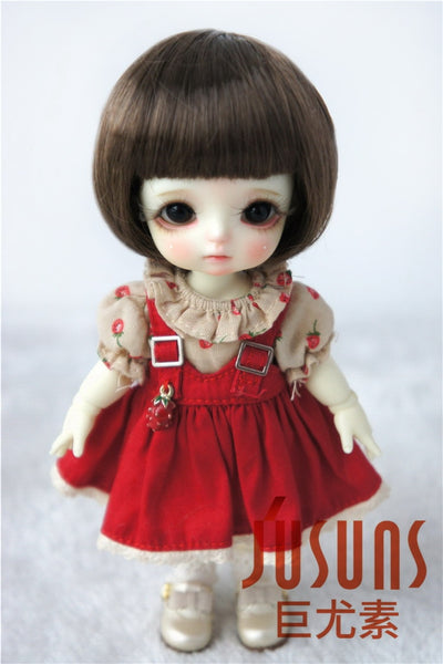 JD256 1/8 Lovely bjd doll wigs size 5-6 inch Short cut doll wigs Fashion Doll Accessories