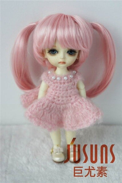 Lovely Angel's Pony doll hair accessories JD152 1/12 1/8 synthetic mohair BJD wigs size 3-4 4-5 5-6