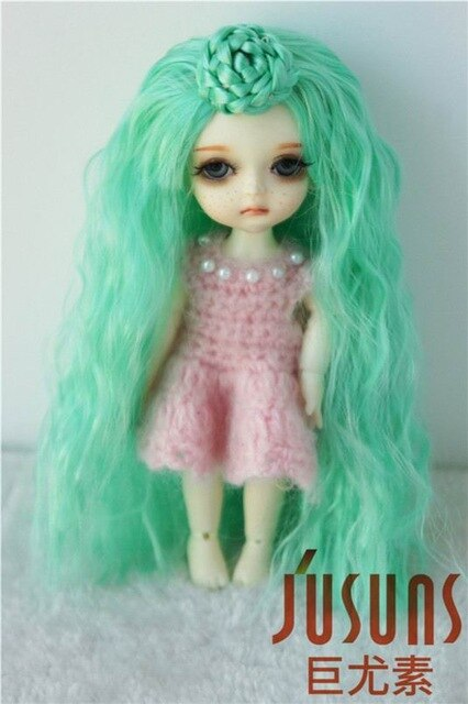 Pretty Ballet synthetic mohair BJD doll wig size 3-4inch 5-6inch BJD JD097  1/12 1/8 Colorful
