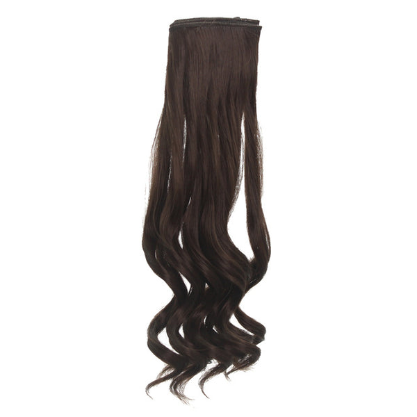 1Piece 15cm Fringe Doll Hair Black Blown Khaki DIY BJD SD Handmade Wigs 5-6 inch 1/8 High-temper
