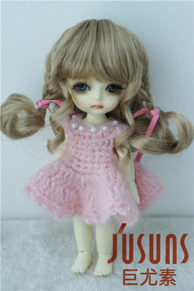 JD367 1/8 Cute BJD synthetic mohair Doll wigs size 5-6 inch fashion doll wigs on top quality