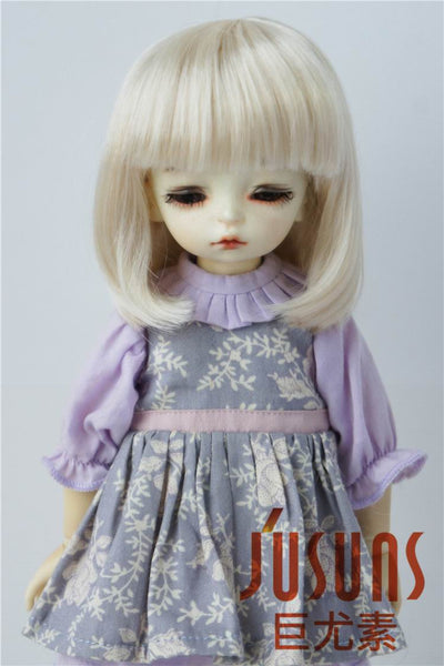 hair doll accessories  JD026 1/8 1/6 Fashion Bobo BJD synthetic mohair wig in size 5-6 inch 6-7